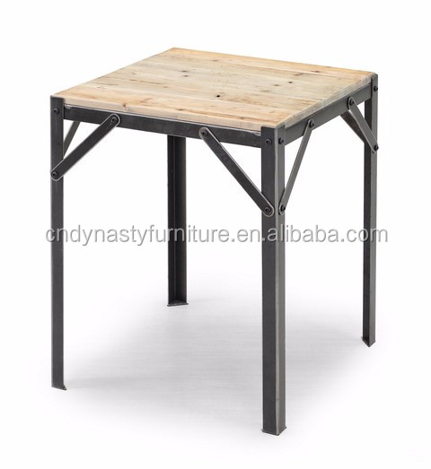 french industrial furniture. French Vintage Industrial Furniture Reclaimed Wood Top Side Table I