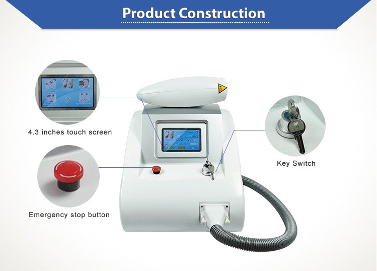 2000mj Nd yag laser tattoo removal machine price with CE