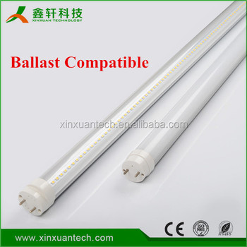 Direct-replace Led Tube W/clear Cover 100-277v 4ft Tube Electronic ...