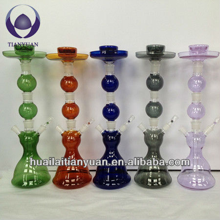 colored borosilicate hand blown glass hookah glass hookah for sale