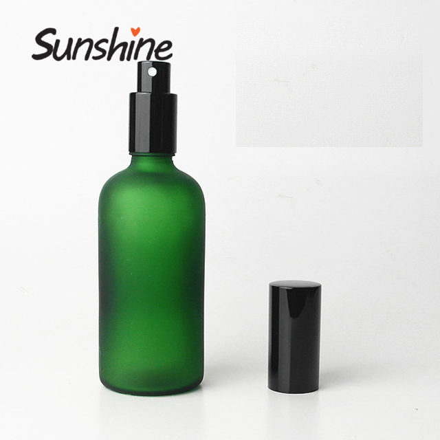 100ml <strong>spray</strong> frosted glass bottle round for cosmetic packaging