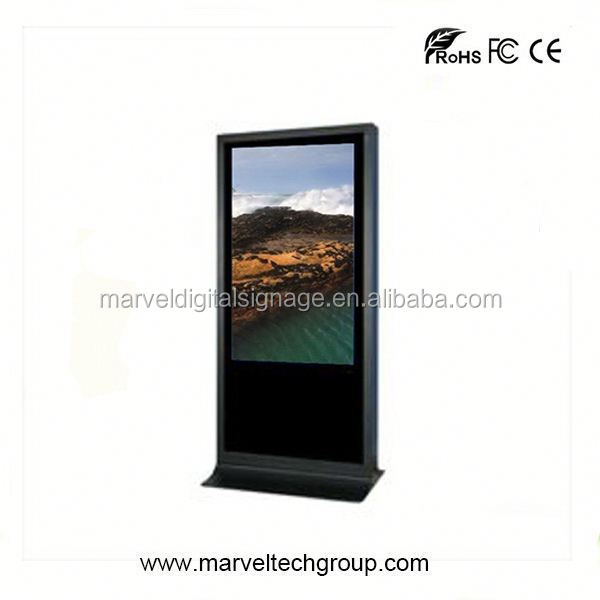 Stand alone indoor wireless wifi 500 nits brightness touchscreen
