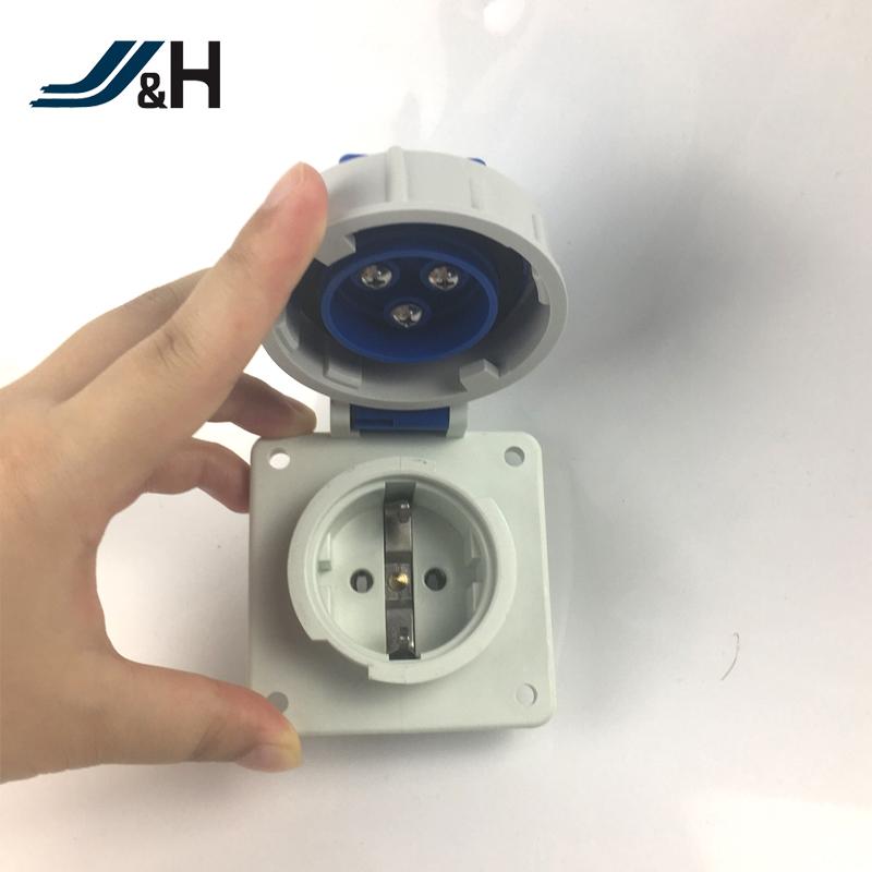 European 2p Ip67 Waterproof Socket 16a Industrial Schuko