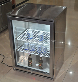 single door table top mini bar design beer glass door fridge - Glass Front Mini Fridge
