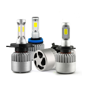72W 8000LM S2 H4 COB CSP LED Headlight 6500k Hi-Lo Beam Car LED Headlights Bulb Head Lamp Fog Light 12V Auto Accessories Parts