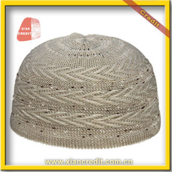 fashionable design with various colors muslim knitted prayer cap pattern  KDTCP005 6690e91bbe1