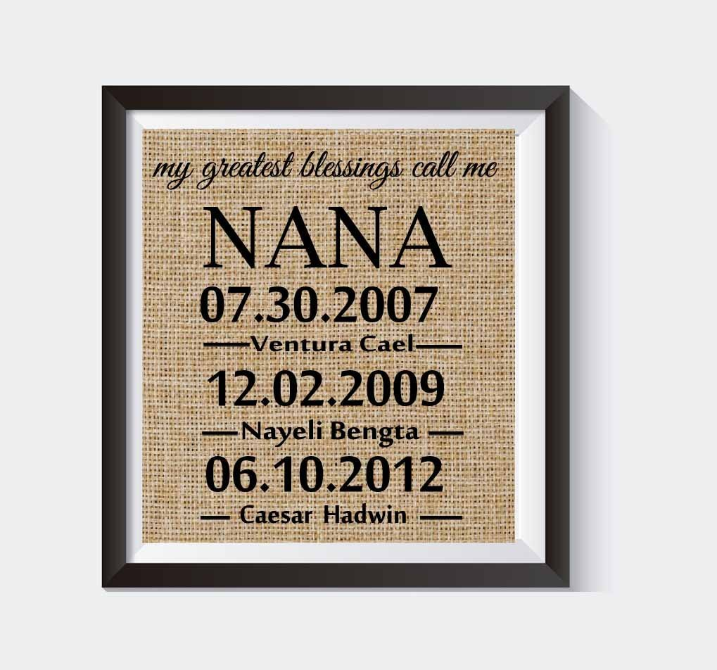 Mother's Day Gift - Gifts for Mom - Mom from daughter - Grandma gifts - Personalized Gifts - Wall decor - Gifts for women - Burlap print - My Greatest Blessings # 008