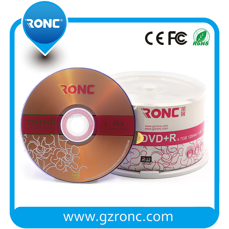 4.7GB Blank DVD+R with Cake Box Raw Material dvd disc