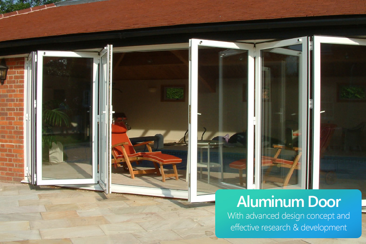 wholesale aluminum glass sliding folding door manufacturers  customize single folding / tri fold doors