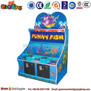 Qingfeng amusement park funny fish arcade indoor for Arcade fishing games