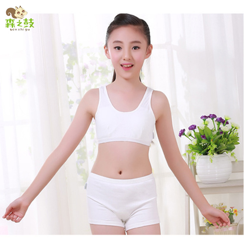 89d2fe2bdad5f Compare Prices on Girls Training Bra and Panties- Online Shopping ... 2017 New  Girls Cosy Undies Puberty Children Teenagers Student Sport Set Girl Cotton  ...