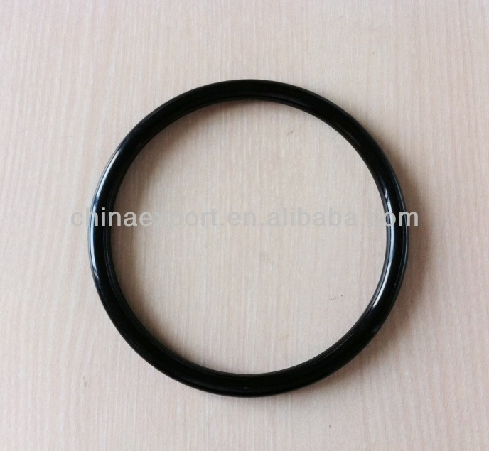 Black Round Acrylic Plastic Resin Purse Bag Handle Ring Bird Toy
