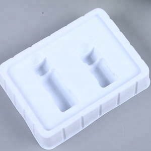 Custom PS Flocking Plastic Vacuum Formed Blister Disposable Cosmetic Tray