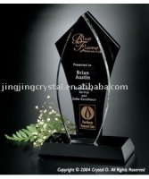 New arrival black crystal trophy crystal souvenir