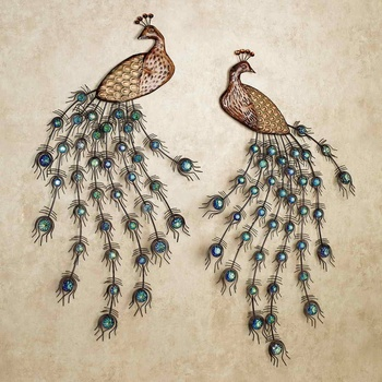 Exceptional Metal Peacock Wall Art Decor