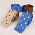 High Quality Nylon Silk 5cm Slim Knit Tie Business Dot Anchor Necktie for Suit Wedding Party