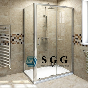 10mm Tempered Glass Bath Shower Enclosures/12mm Thick Toughened ...