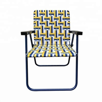 2019 New Factory Direct Folding Lawn Webbing Chair Steel Made Woven Web
