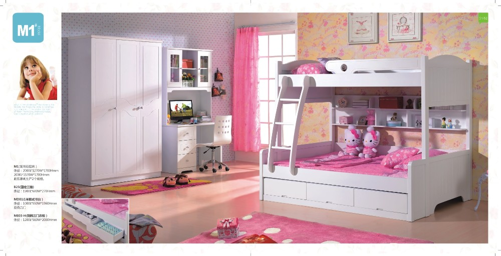 White Bunk Bed 2016 Cheap Double Decker Twins Kids Bedroom