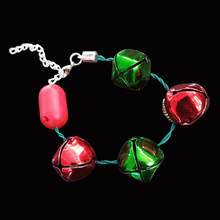 2019 China Suppliers Bangle Accessories Bell Charm Ornaments Led Flashing Christmas Bracelet