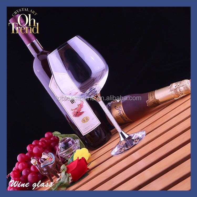 Handmade elegant customized silicone stem decorative goblet red wine glass