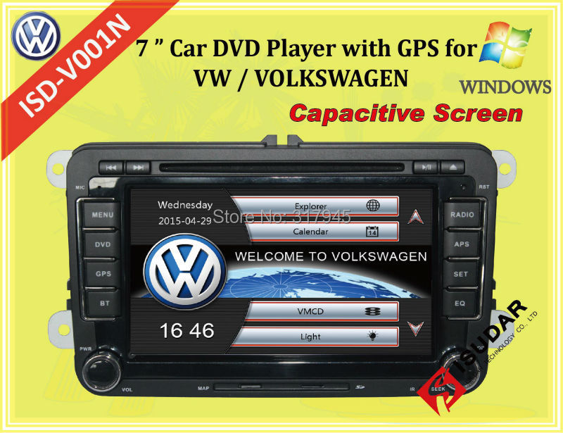Capacitive Screen! Two Din 7 Inch Car DVD Player For VW/POLO/PASSAT/Golf/Skoda/Seat Wifi 3G Host Radio GPS Bt 1080P Ipod RDS Map