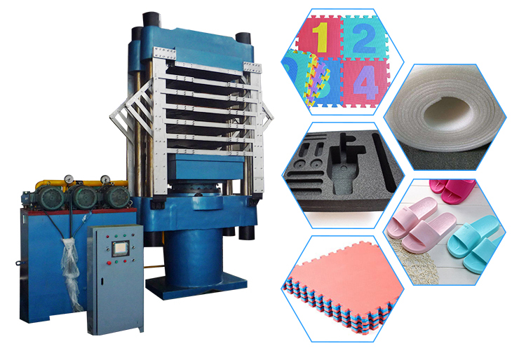 Foam Rubber Sheets Vulcanizing Press Eva Mat Foaming Machine Buy Platen
