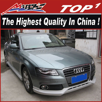 high quality pu body kit for audi a4 abt style front lip. Black Bedroom Furniture Sets. Home Design Ideas