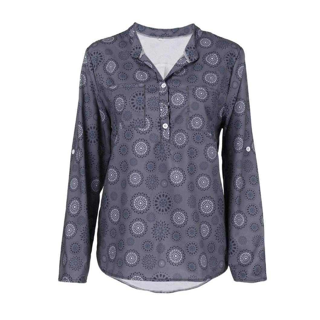 4b67d83f4e64a Get Quotations · Women Blouse, Limsea Plus Size Print Long Sleeve Polka Dot  Button Blouse Pullover Tops Shirt