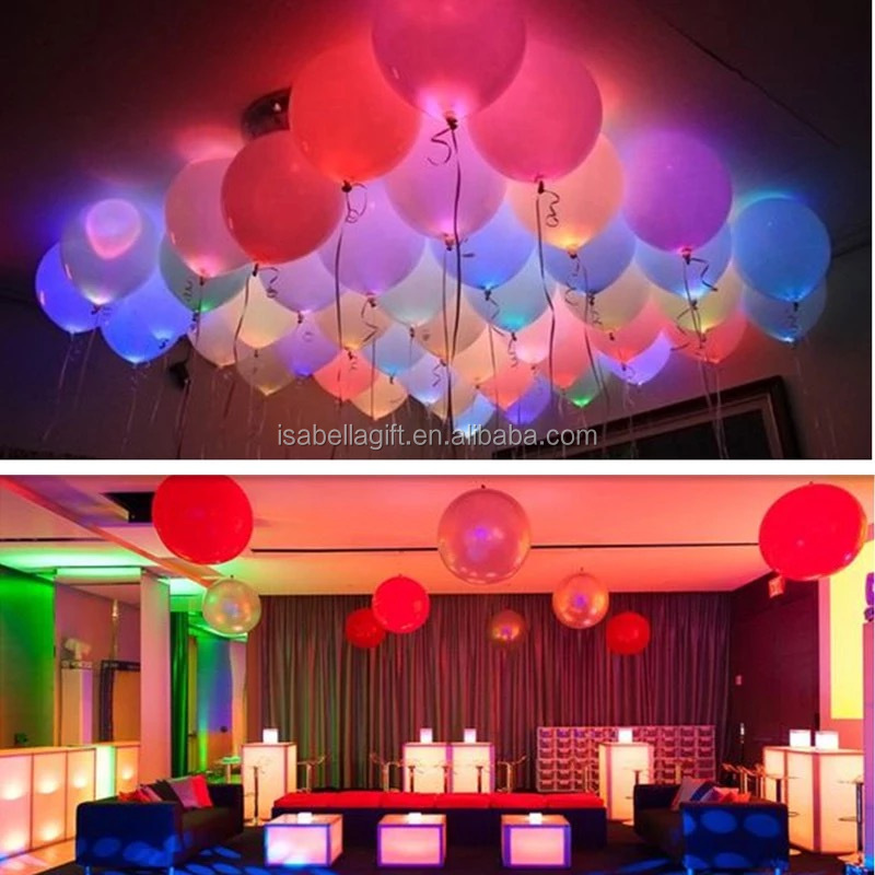 2017 hot new products owning an Led balloons patent printing led party with light latex balloon