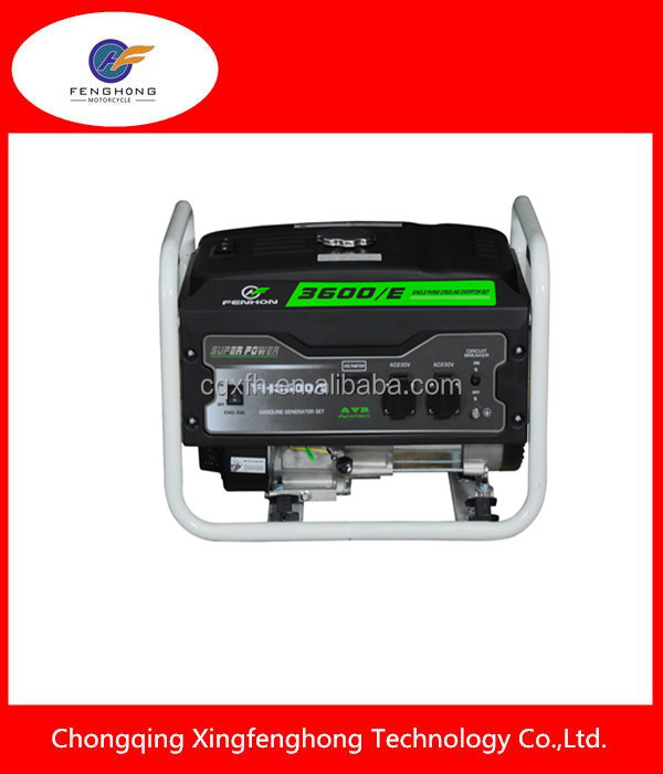 high quality 3KW petrol generator hand start