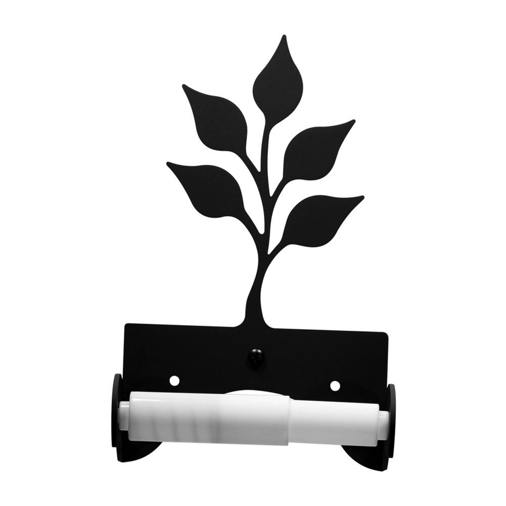Iron Traditional Style Leaf Toilet Roll Tissue Holder - Heavy Duty Metal Toilet Paper Holder, Toilet Tissue Holder, Toilet Paper Dispenser, Toilet Roll Dispenser