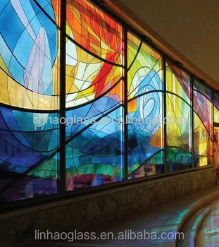 Super Glass Wall Prices,Stained Glass Feature Wall Design - Buy  NJ72