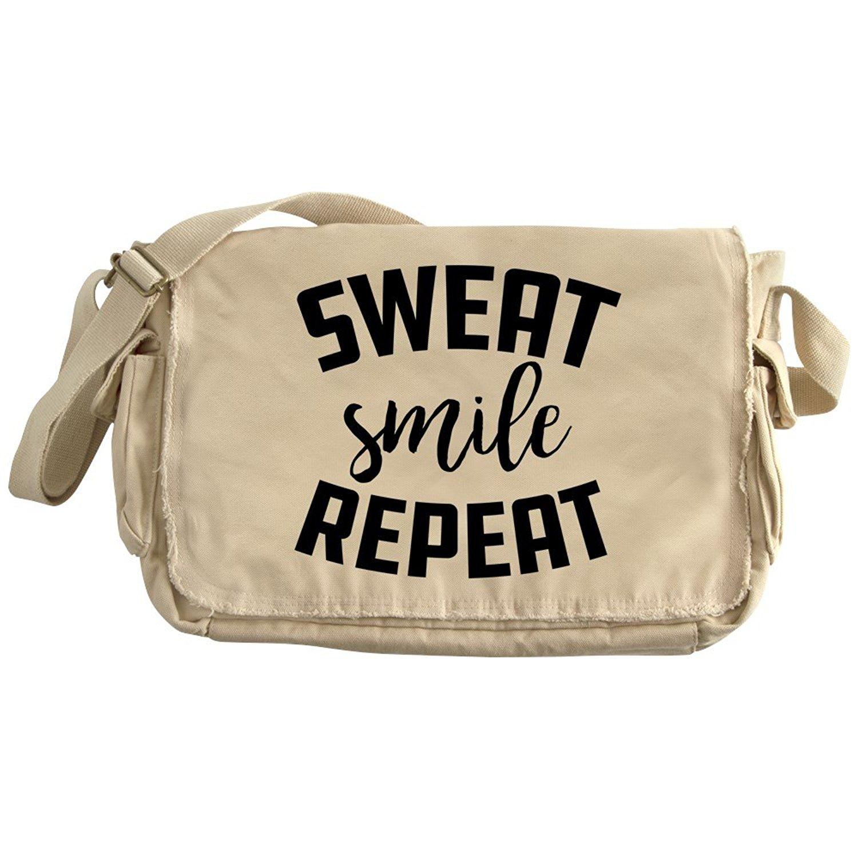 def837267971 Get Quotations · CafePress - Sweat Smile Repeat - Unique Messenger Bag