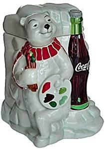 "Coca-Cola ""Coke"" Work of Art Polar Bear Ceramic Cookie Jar 2000"
