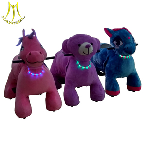 Hansel high quality stuffed electric animal scooters in mall non coin