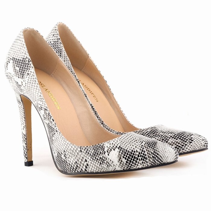 Get Quotations · Classic Sexy Pointed Toe High Heels Women Pumps Shoes Faux  snake Spring Brand Wedding Pumps Big ae90c31b33e5
