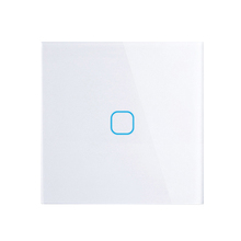 EU/UK standard <span class=keywords><strong>di</strong></span> Tocco <span class=keywords><strong>Interruttore</strong></span> White Cristallo Touch Panel Switch, AC220V, UE 1 Gang 1Way Parete Luce <span class=keywords><strong>Interruttore</strong></span> Touch Screen
