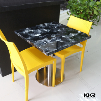 Etonnant Quartz Surface Round Table And Chairs , Fast Food Tables