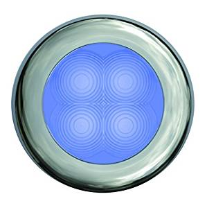 HELLA 980502271 '0502 Series' Slim Line Blue 12V DC Round Soft LED with Chrome Plated Rim by HELLA