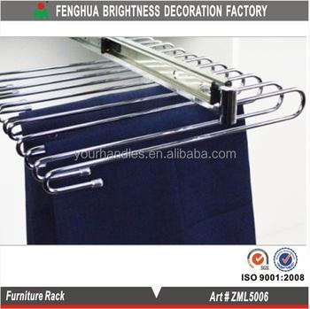 wardrobe aluminum clothes trouser rack wall clothes hanger rack