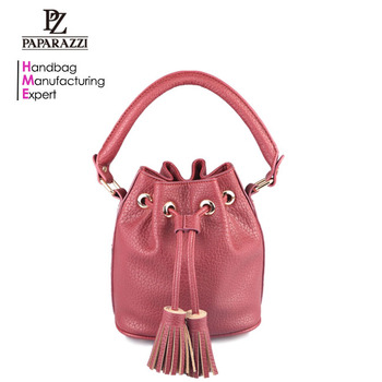 3479 PAPARAZZI design 2018 hot sale mini ladies grained PU drawstring hand bucket bags