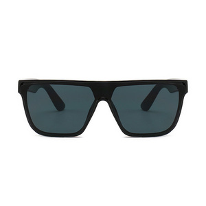 13545 Superhot Eyewear 2019 Fashion Men Women Black Rectangular Shield Shades Flat Top Sunglasses