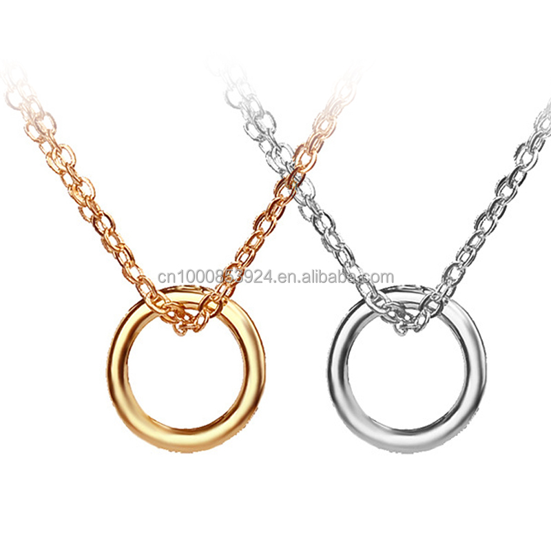 Dogeared Karma Circle Eternity Pendant Necklace Clavicle Chains Fashion Statement Necklace