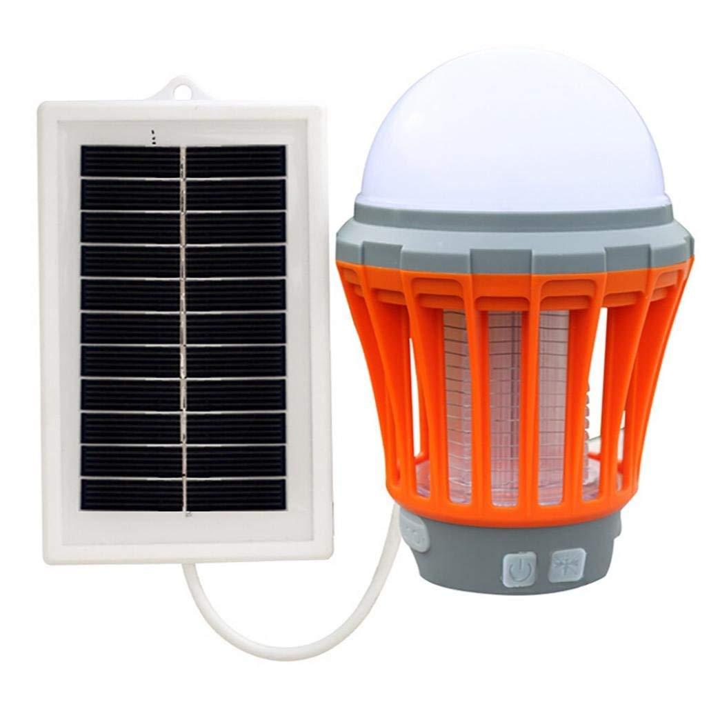 Caopixx Home Decor Bug Zapper,Caopixx Insect Killer Light Bulb UV Solar LED Electric Fly Pest Mosquito Trap Zapper Killer Night Lamp (Orange)