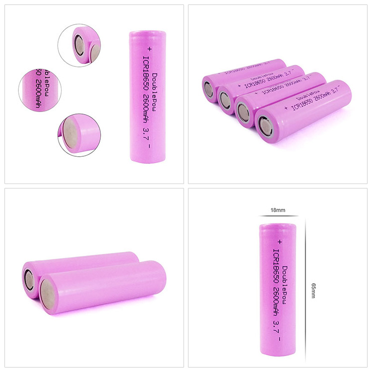 China 3.7V li ion battery 2600mAh 18650 lithium rechargeable battery