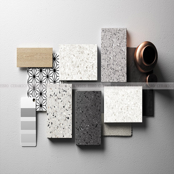 24x24 Non Slip Terrazzo Tiles And Marbles For Bathroom 66TE06