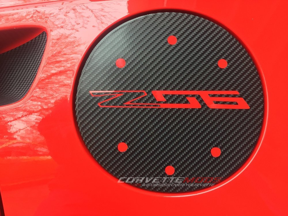 C7 Corvette Stingray/Z06/Grand Sport 2014+ Vinyl Gas Door Overlay - Solid Colors / Carbon Fiber Carbon Flash Metallic Z06