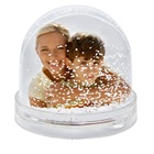 Promotional photo snow globe picture frame snow ball for Christmas