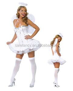 Wholesale Cheap Adult Sexy Heaven Sent white Angel dress costume for party QAWC-2045